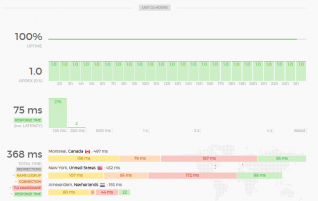 Sexiest Looking Uptime Monitor w/ API