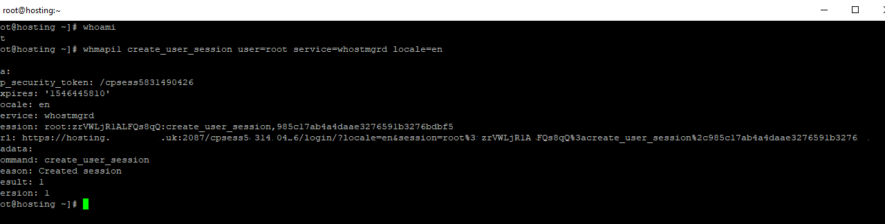 Accessing WHM without the root password